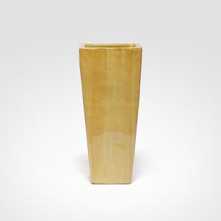 Vaso Cerâmica Quadrado 000297.004 Cores disponíveis: Azul, bege, branco, cobre, grafite, jade, marrom e preto