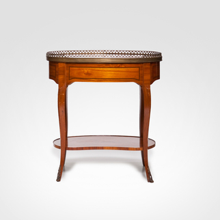 Mesa Lateral Oval Louis XV