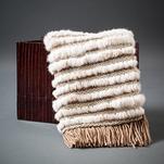 Manta de Coelho, Couro e Lã de Ovelha