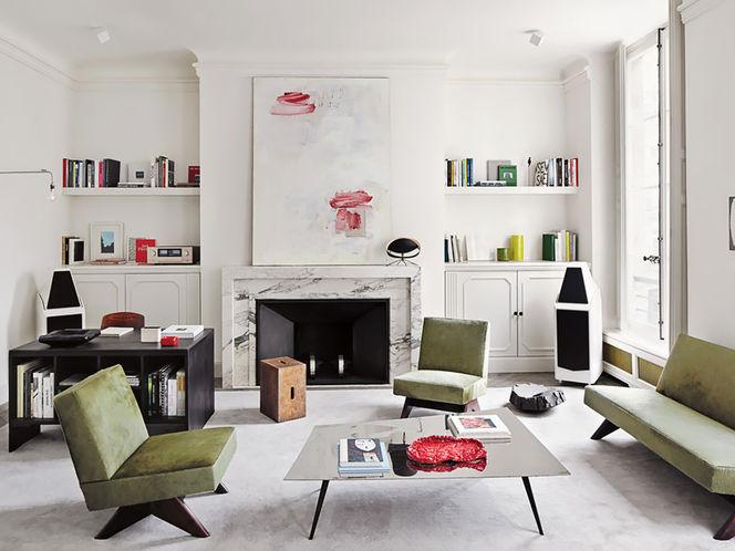 Living Moderno com Sofá e Poltronas Verdes