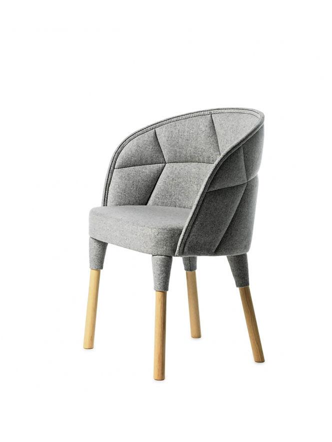 Cadeira Estofada com Desenho Geométrico